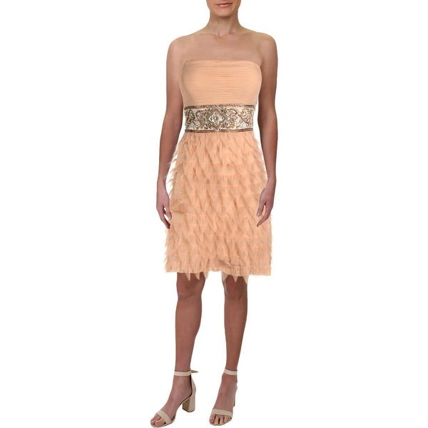 33f4eeef938 Shop Sue Wong Womens Cocktail Dress Silk Beaded - 12 - Free Shipping Today  - Overstock - 27980031