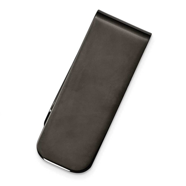 Chisel Black Plated Polished Stainless Steel Money Clip