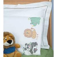 Children's Zoo - Children's Stamped Pillowcase W/White Perle Edge 1/Pkg