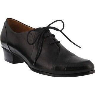 Spring Step Women's Elvera Oxford Black Glove Leather