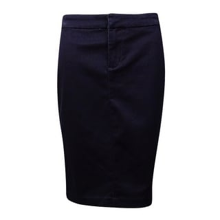 INC International Concepts Women's Back-Pockets Denim Skirt