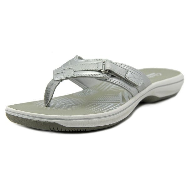 Clarks Narrative Breeze Sea Women Open Toe Synthetic Silver Thong Sandal