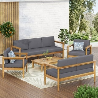 Link to Magnolia Outdoor Acacia Wood Chat Set by Christopher Knight Home Similar Items in Patio Furniture