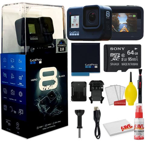 GoPro HERO8 Black Digital Action Camera - With Clean and Care Set + 64GB Memory Card and More.