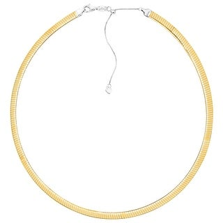 Reversible Adjustable Avolto Omega Chain Necklace in 14K Gold-Bonded Sterling Silver - Two-tone