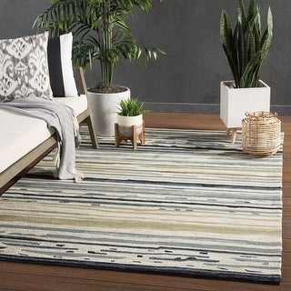 Link to Porch & Den Nicollette Indoor/ Outdoor Abstract Area Rug Similar Items in Rugs