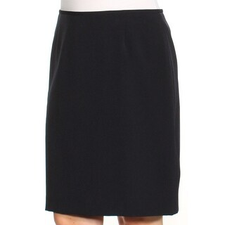 Womens Black Above The Knee Sheath Wear To Work Skirt Petites Size 10