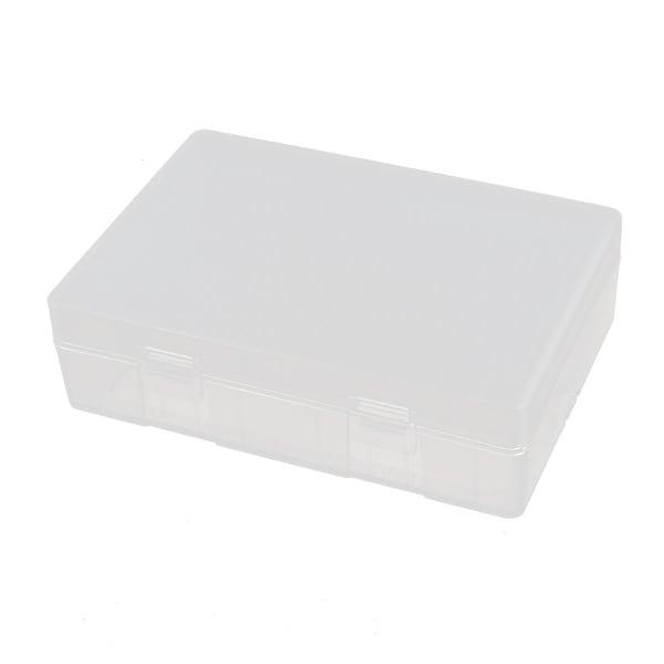 111mmx76mmx32mm Transparent Storage Case Hard Plastic Battery Holder Organizer