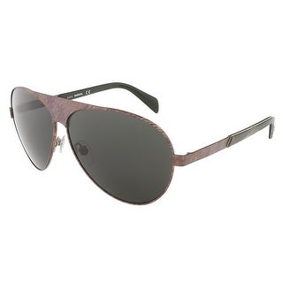 Diesel DL0119/S 09A Brushed Bronze/Faded Purple Teardrop Aviator sunglasses - 62-10-140