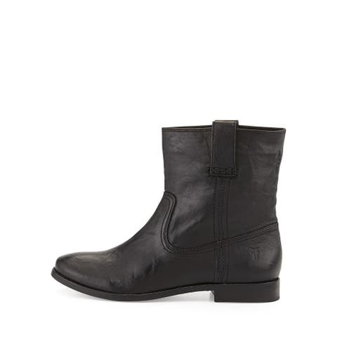 Frye Womens Anna Short Leather Closed Toe Ankle Fashion Boots