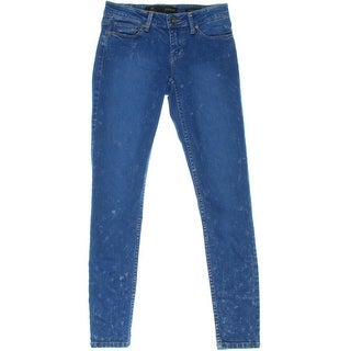 Guess Womens Power Acid Wash Low-Rise Skinny Jeans