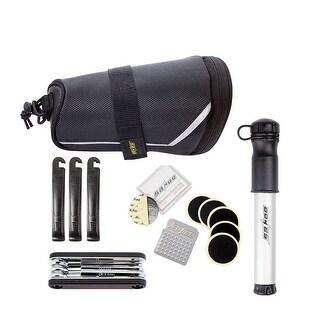 Odoland Bicycle Repair Tool Set Kit w/ Saddle Bag Bike Mini Pump Tire Inflator Patch Crowbar All in One