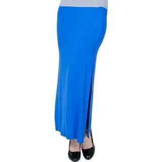 Women's Agiato Side Slit Maxi Skirt - Blue
