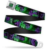 Haha Stacked Full Color Black Gray Green The Joker Card Flipping Poses Seatbelt Belt