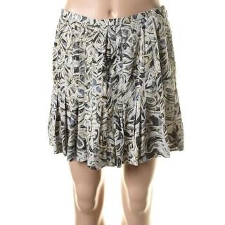 Catherine Malandrino Womens Silk Printed A-Line Skirt - 4