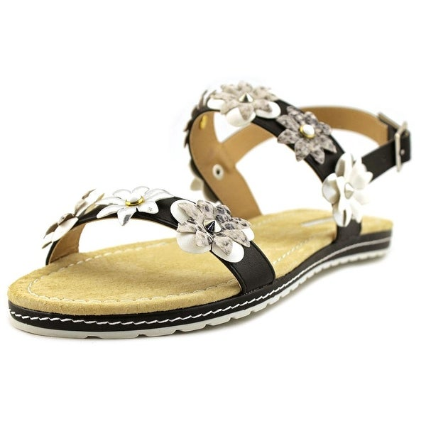 Maria Mare 66771 Women Brush Black/White/Stone/Silver Sandals