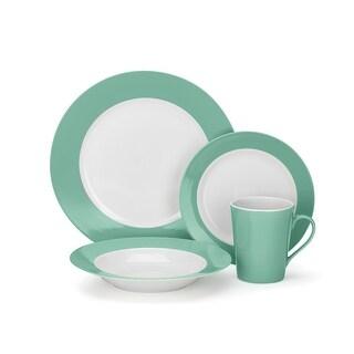 Cuisinart CDP01-S4WG Laurielle Collection 16-Piece Porcelain Dinnerware Set - Green
