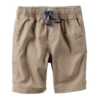 Carter's Boys' Pull On Canvas Shorts- Khaki- 12 Months