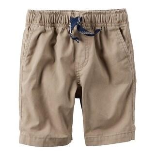 Carter's Boys' Pull On Canvas Shorts- Khaki- 8 Kids