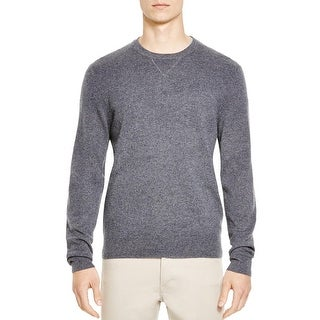 Bloomingdales Mens Slim Fit Cashmere Crewneck Sweater Small S Heather Grey
