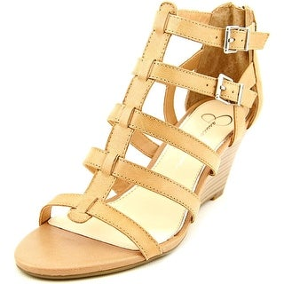 Jessica Simpson Shalon Women Open Toe Synthetic Nude Wedge Heel