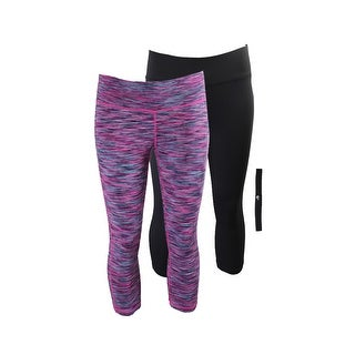 Ideology Pink Multi Black Cropped Leggings And Headband Gift Set L