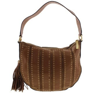 MICHAEL Michael Kors Womens Brooklyn Hobo Handbag Leather Convertible - LARGE
