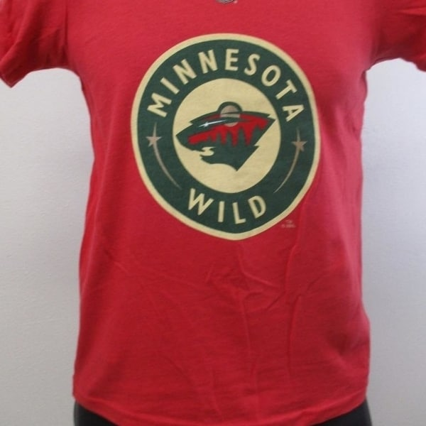 sports shoes b76bf 96db7 Minor-Flaw Minnesota Wild #22 Nino Niederreiter Kids S Small 8 Red Shirt
