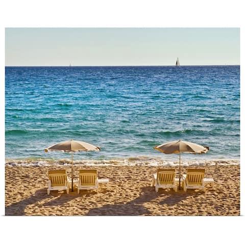 """La Croisette Beach is the main beach in Cannes."" Poster Print"