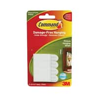 Command 17202 Small Picture Hanging Strips, White, 4-Strip