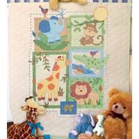 "34""X43"" - Baby Hugs Savannah Quilt Stamped Cross Stitch Kit"