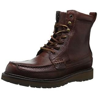 Polo Ralph Lauren Mens Willingcott Leather Moc Toe Ankle Boots - 9.5 medium (d)