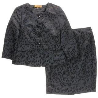Kasper Womens Jacquard 2PC Skirt Suit - 6