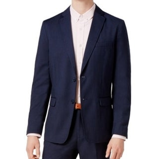 American Rag NEW Blue Mens Size Large L Seamed Two Button Blazer