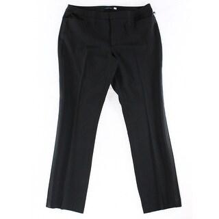 Tommy Hilfiger NEW Black Women's Size 12 Tuxedo Striped Dress Pants