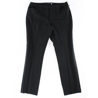 Tommy Hilfiger NEW Black Women's Size 4 Pocketed Tuxedo Dress Pants