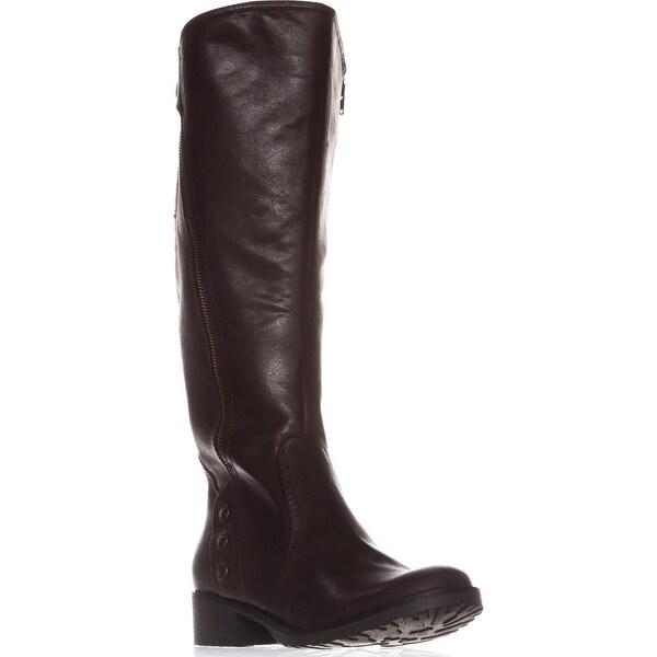 BareTraps Oria2 Wide Calf Knee-High Boots, Dark Brown