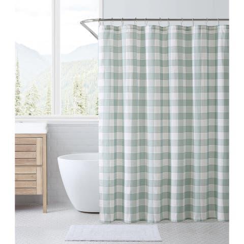 Eddie Bauer Cabin Plaid Cotton Shower Curtain