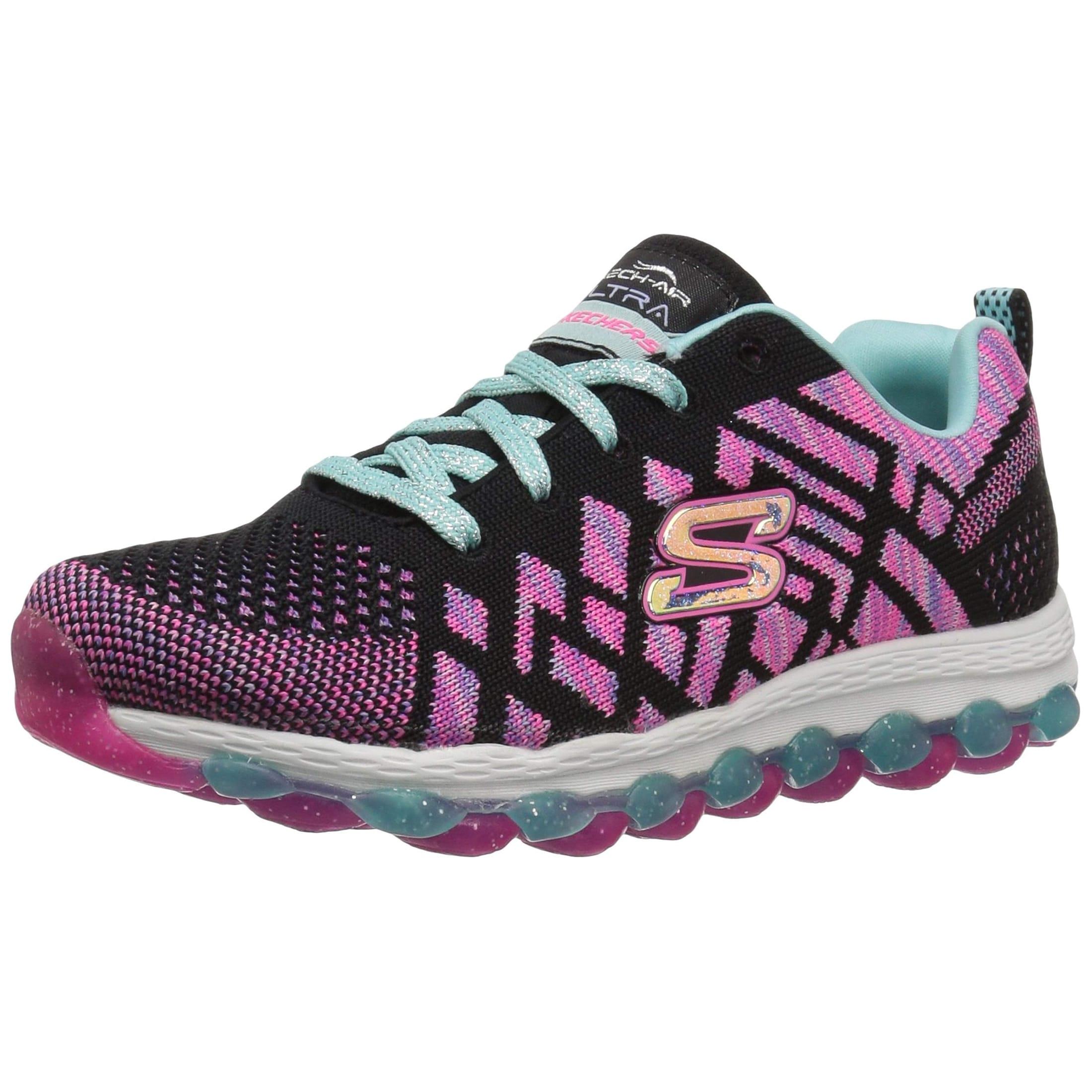 Youth Girl/'s Skechers Skech Air Ultra Kick N Knit Sneakers Grey//Mult