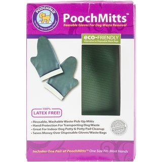 PoochPads PG16P24MI PoochMitts Washable Waste Removal Gloves (1 pair)