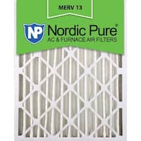Nordic Pure12x24x4 Pleated MERV 13 AC Furnace Air Filters Qty 2