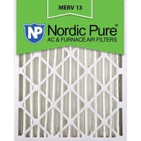 Nordic Pure16x25x4 Pleated MERV 13 AC Furnace Air Filters Qty 2