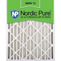 Nordic Pure18x24x4 Pleated MERV 13 AC Furnace Air Filters Qty 2