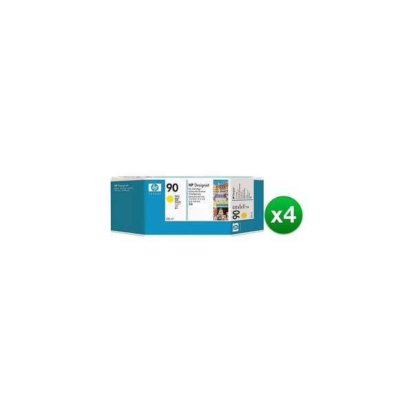 HP 90 400-ml Yellow DesignJet Ink Cartridge (C5065A) (4-Pack)