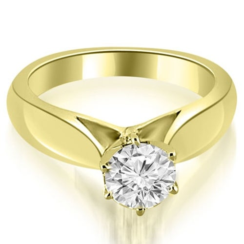 0.75 cttw. 14K Yellow Gold Cathedral Solitaire Diamond Engagement Ring