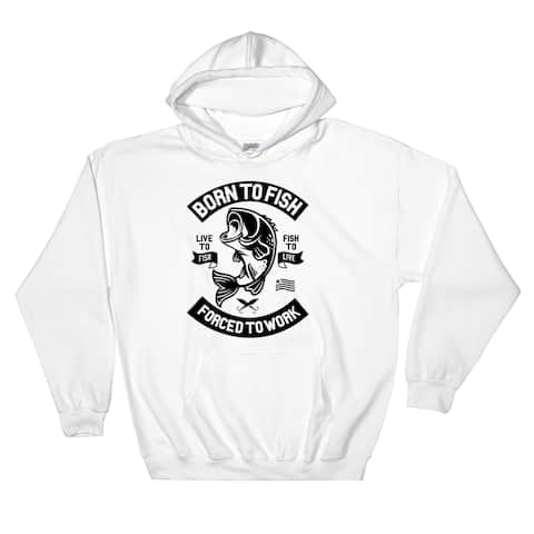 Born to Fish Pullover Pocket Hoodie