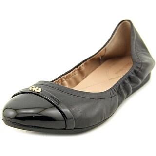 Cole Haan Elsie Logo Ballet II Round Toe Leather Ballet Flats