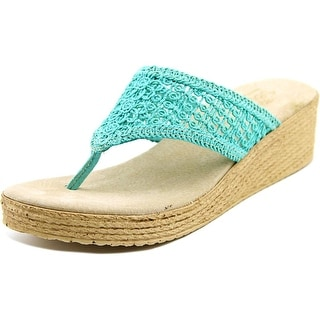 Sbicca Tomatillo Women  Open Toe Canvas Blue Thong Sandal