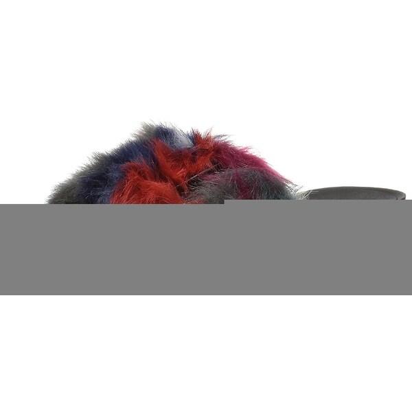 Anne Klein AK Sport Women's Quency Fabric Slide Sandal