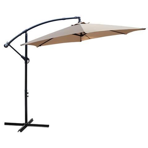 Maypex 10 Feet Offset Outdoor Patio Umbrella
